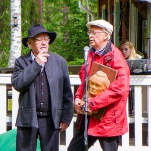 Sig Wengelin och Lars-Holger Röstlund kåserar om Albert Viksten